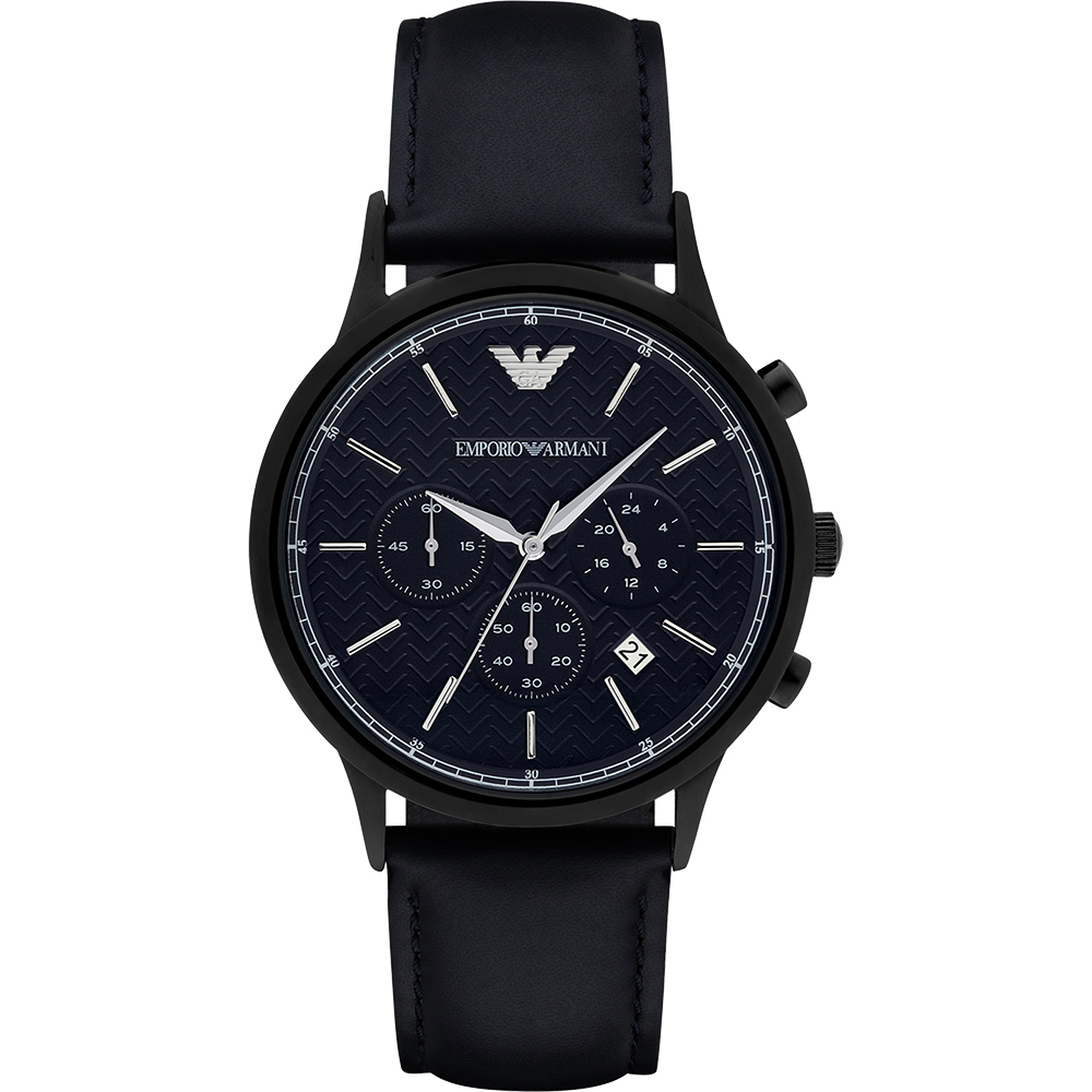 Emporio Armani Classic 都會新貴計時腕錶-深藍/43mm