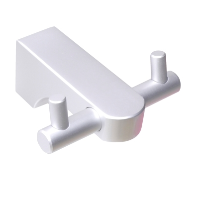 Homeicon 衛浴配件 太空鋁-雙衣勾