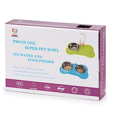 寵愛有家-吸盤式寵物二合一飲水器+食盆組