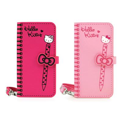 GARMMA Hello Kitty iPhone5/5S/SE側掀式摺疊皮套-俏麗系列