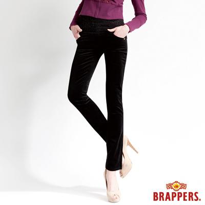 BRAPPERS-女款-新美尻Royal系列-女用平面絨彈性九分褲-黑