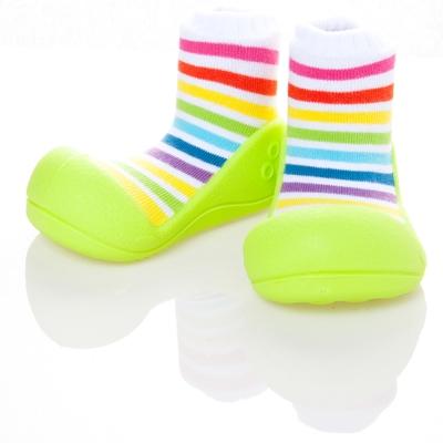 韓國 Attipas 學步鞋 正廠品質有保證 尺寸齊全AR04-彩虹綠底