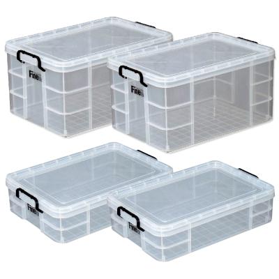 [愛收納]安心收-強固型圓角整理箱四件組(65Lx2+31Lx2)