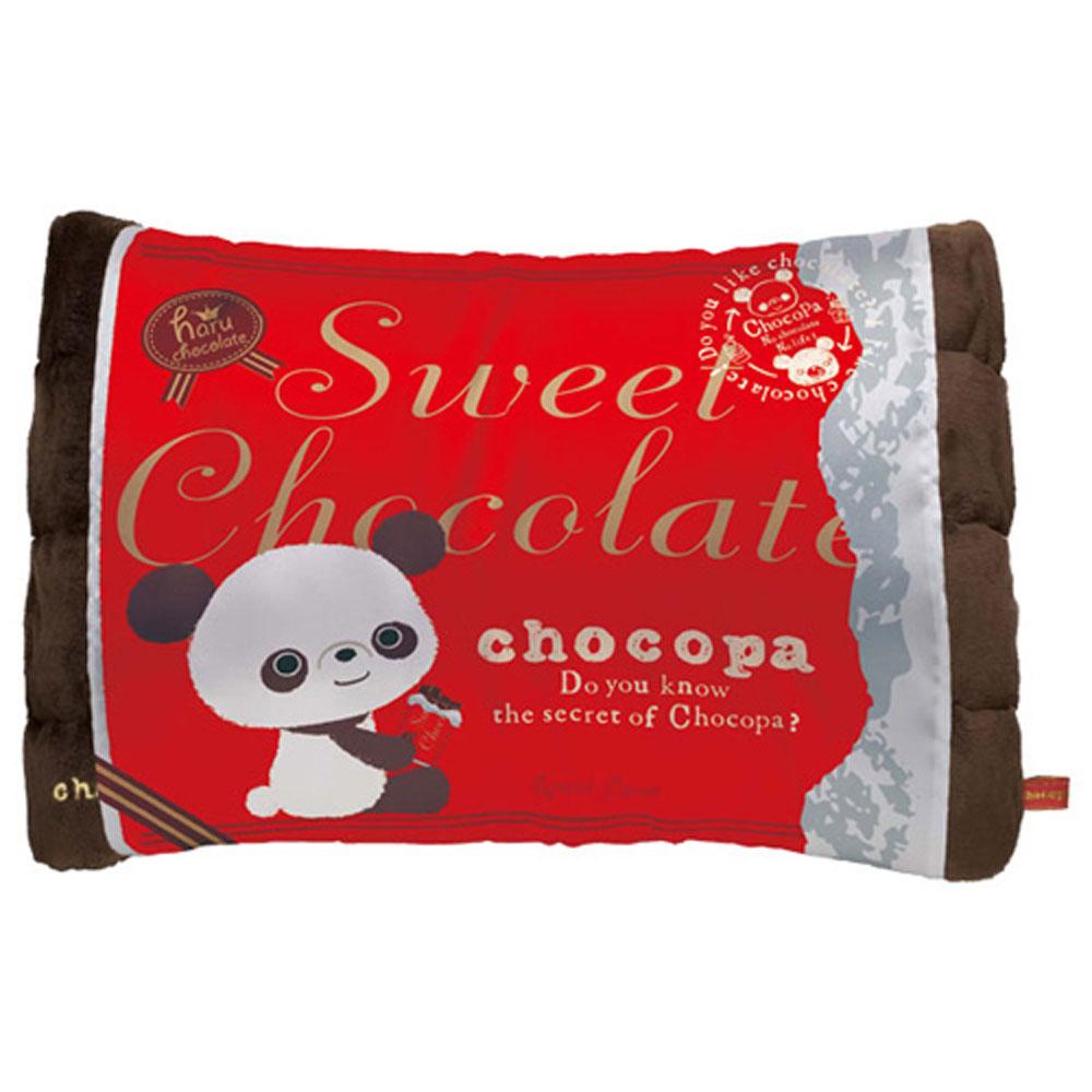 巧克貓熊行李箱系列巧克力造型抱枕