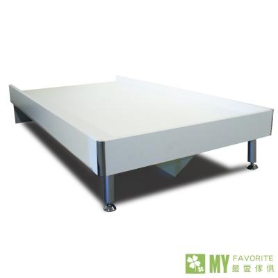 床架-雙人-5呎通用白色井字床底-含床墊-最愛傢俱
