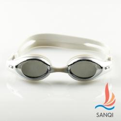 SANQI三奇 夏日必備抗UV防霧休閒泳鏡(7900-灰F)