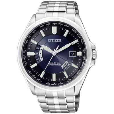 CITIZEN  超越極限5局電波萬年曆腕錶(CB0011-51L)-黑藍/44mm
