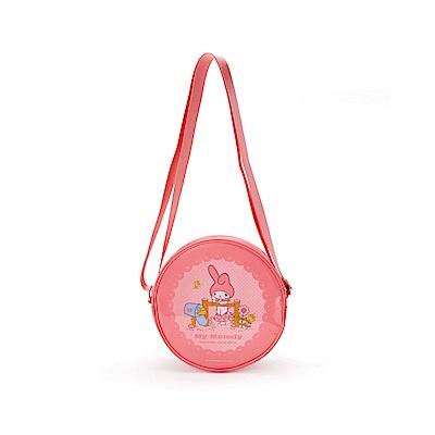 Sanrio 美樂蒂 PVC防水圓型透明斜背包(點點)