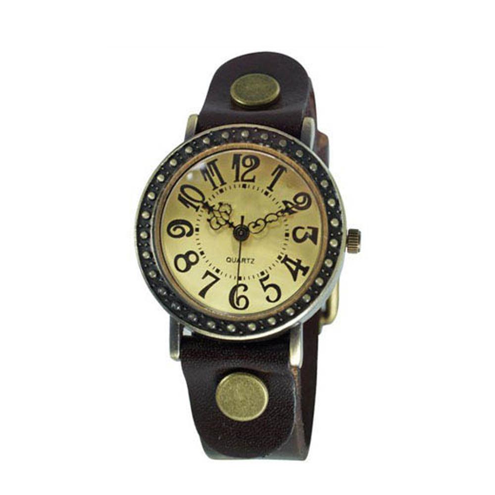 Ebusan BOBO 復古哥德式精刻中性錶-棕 @ Y!購物