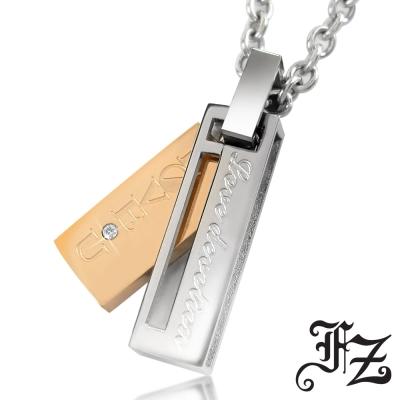 FZ 愛情密約白鋼項鍊(小款玫瑰金)