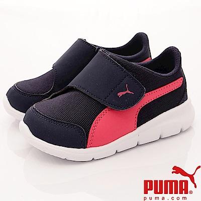 PUMA童鞋 輕量經典流線款 90943-03 藍桃 (小童段)