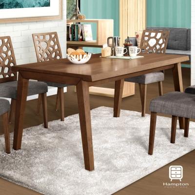 漢妮Hampton雅各5尺胡桃餐桌-150x90x74.5cm