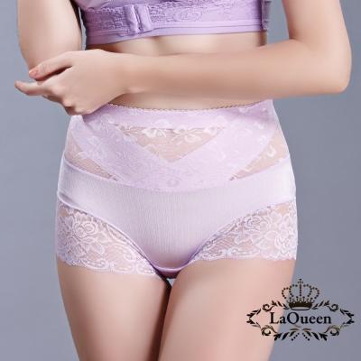 塑褲  v型加壓平腹高腰蠶輕塑褲-淺紫 La Queen