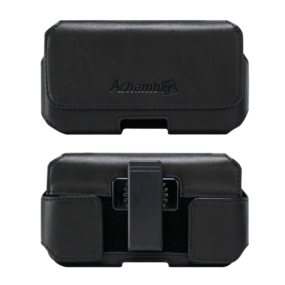 第二代Achamber 真皮旋轉腰夾腰掛 橫式皮套 三星Note 5/C9 Pro