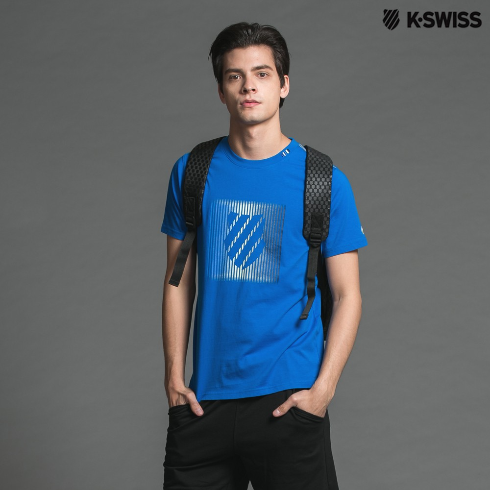 K-Swiss Shield Graphic Tee印花短袖T恤-男-深藍