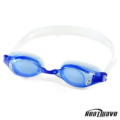 熱浪度數泳鏡-RIVER選手型光學近視泳鏡(藍色700-1000度)