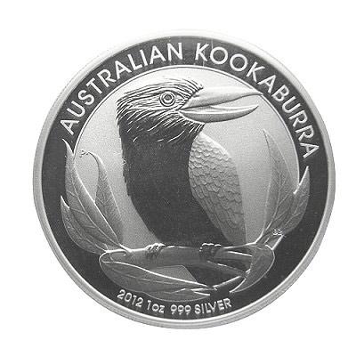 笑鴗鳥銀幣 笑鴗鳥2012銀幣 (1盎司)