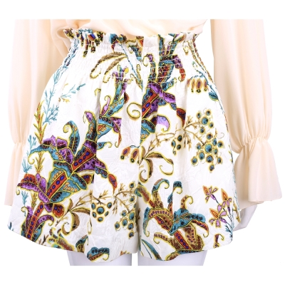 PHILOSOPHY 米白色花卉圖騰寬口短褲 @ Y!購物