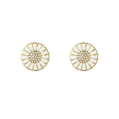 GEORG JENSEN 喬治傑生-DAISY 18K金純銀鑽石耳環