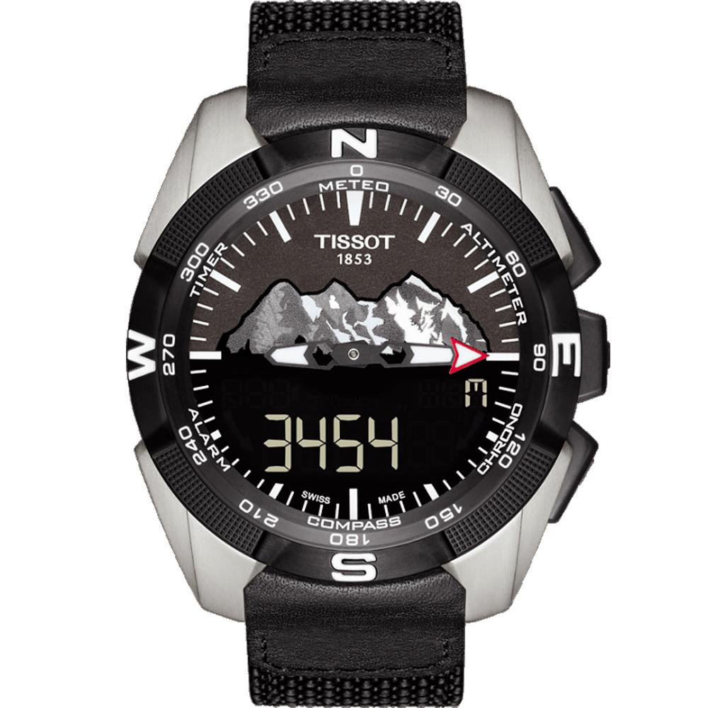 TISSOT 天梭 T-TOUCH EXPERT 太陽能觸控腕錶-黑/45mm @ Y!購物