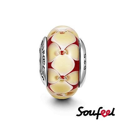 SOUFEEL索菲爾 925純銀珠飾 桂花 琉璃珠