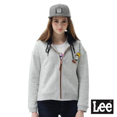 Lee Buddy Lee連帽開襟外套-女款-灰色