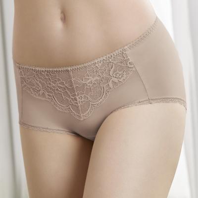 曼黛瑪璉 低腰平口修飾褲(月光膚)