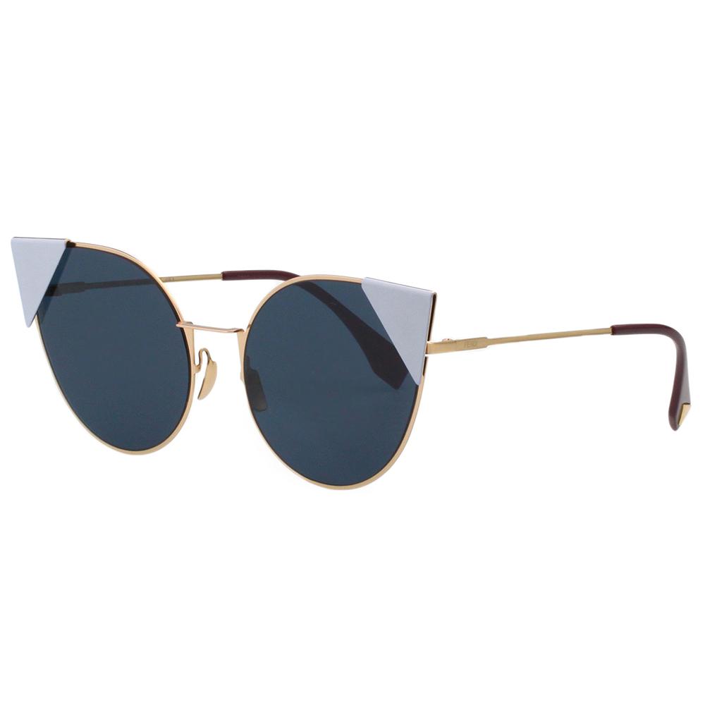 FENDI 廣告主打 貓眼款 太陽眼鏡 (金框+粉藍)FF0190S