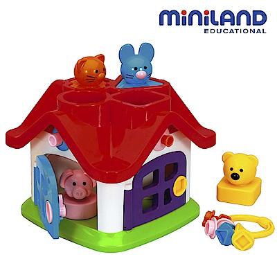 【西班牙Miniland】動物寶寶幾何形狀配對屋
