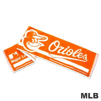 MLB-巴爾的摩金鶯隊橫式文字款運動長巾-桔色