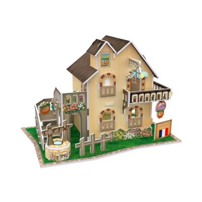 世界之窗 3D立體拼圖 《法國》 花園小茅屋 3D World Style