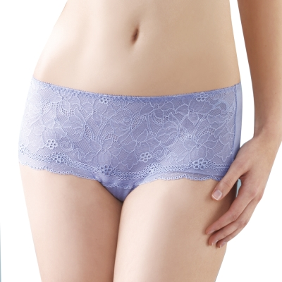 思薇爾 挺玩美系列M-XL低腰平口褲 (紫煙藍)