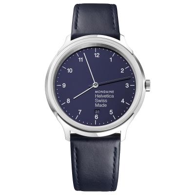 MONDAINE 瑞士國鐵設計系列限量腕錶 - 海軍藍 / 40mm