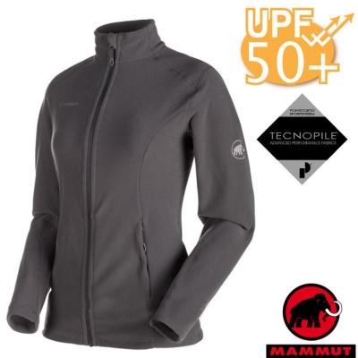 【MAMMUT 長毛象】女新款 Yampa ML 彈性保暖刷毛外套.休閒夾克/石墨灰