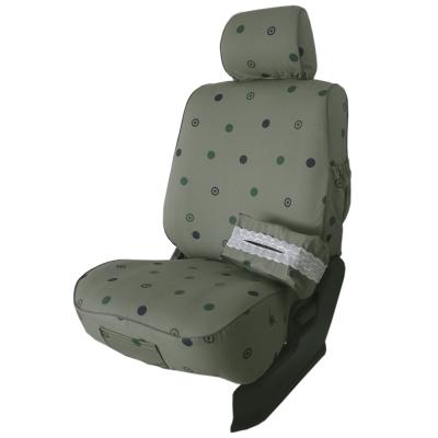 葵花-量身訂做-汽車布料椅套-綠色圓點-休旅車款