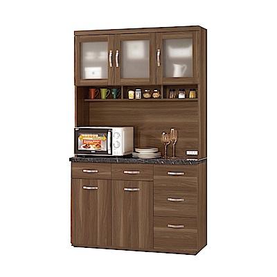 品家居 洛伊絲3.9尺石面餐櫃組合-117.5x41.5x198cm免組