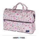 【HAPI+TAS】女孩小物折疊旅行袋(大)-米色