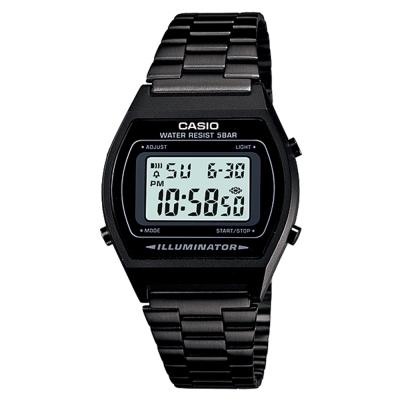 CASIO 大錶面簡約酒桶型數位錶(B-640WB-1A)-沉穩黑/ 35mm