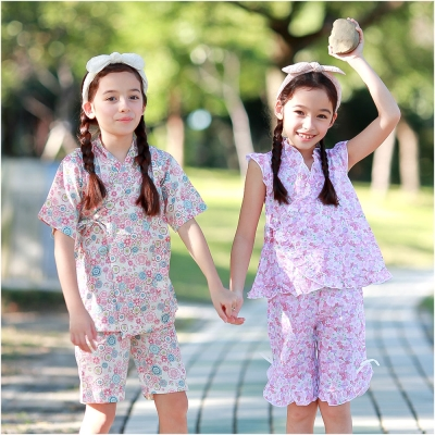baby童衣 女童和服 夏日短袖套裝 42188