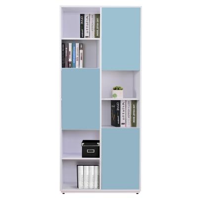 AT HOME-蒂芬妮2.7尺彩色三門書櫃-右(五色可選)