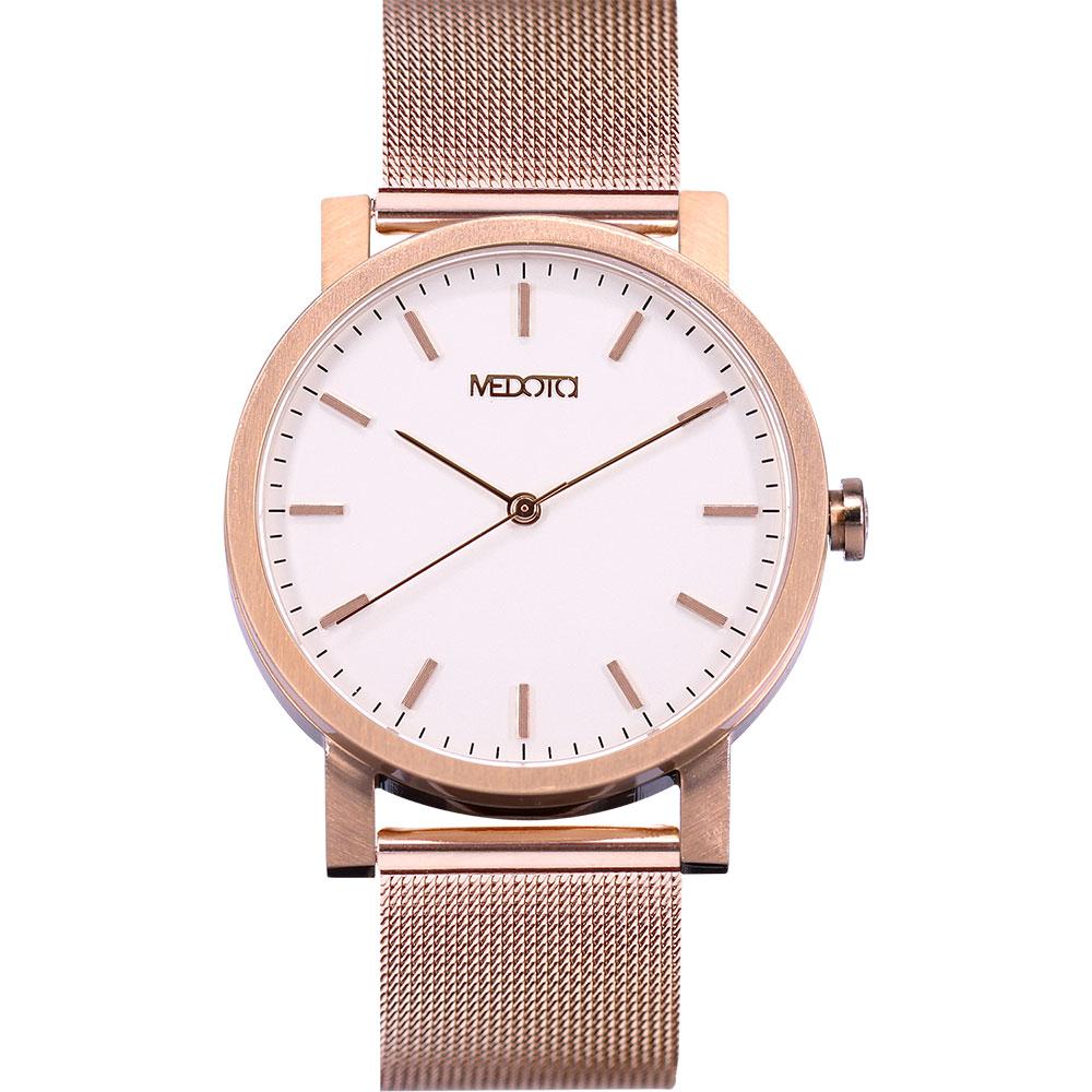 MEDOTA 極簡輕薄手錶- 倒影系列 – 男錶 玫瑰金色/40mm