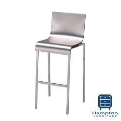 漢妮Hampton愛麗屋現代時尚銀色高吧椅(46x52x98cm)