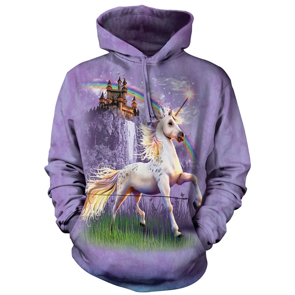 摩達客 美國進口The Mountain獨角獸城堡 長袖連帽T恤