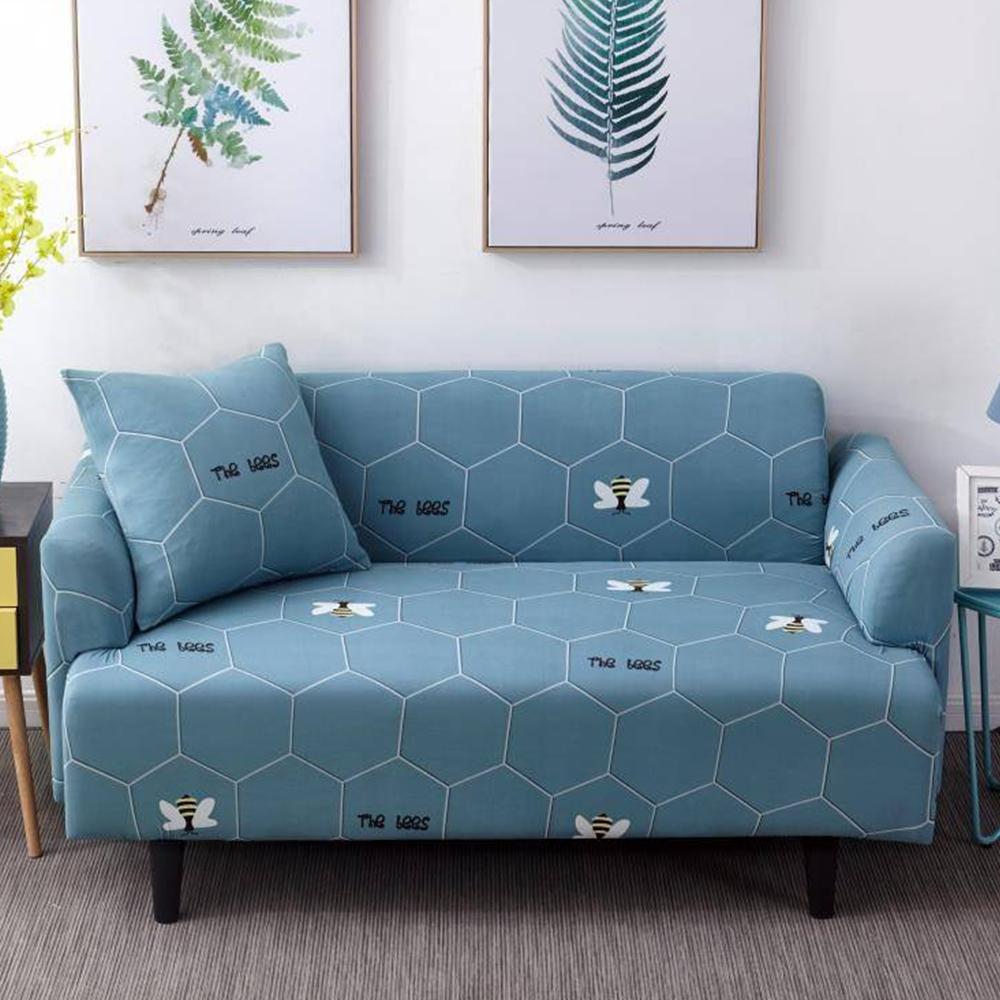 日創優品 簡約時尚高彈力沙發套-小蜜蜂1人座 (贈同款抱枕套x1)