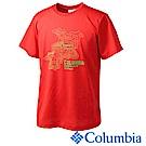 Columbia 哥倫比亞 男款-冰涼快排防曬短袖上衣 紅 UPM12180RD