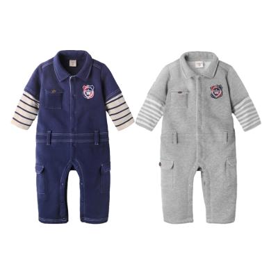 baby童衣 假兩件仿牛仔內刷毛工作服連身衣 50737