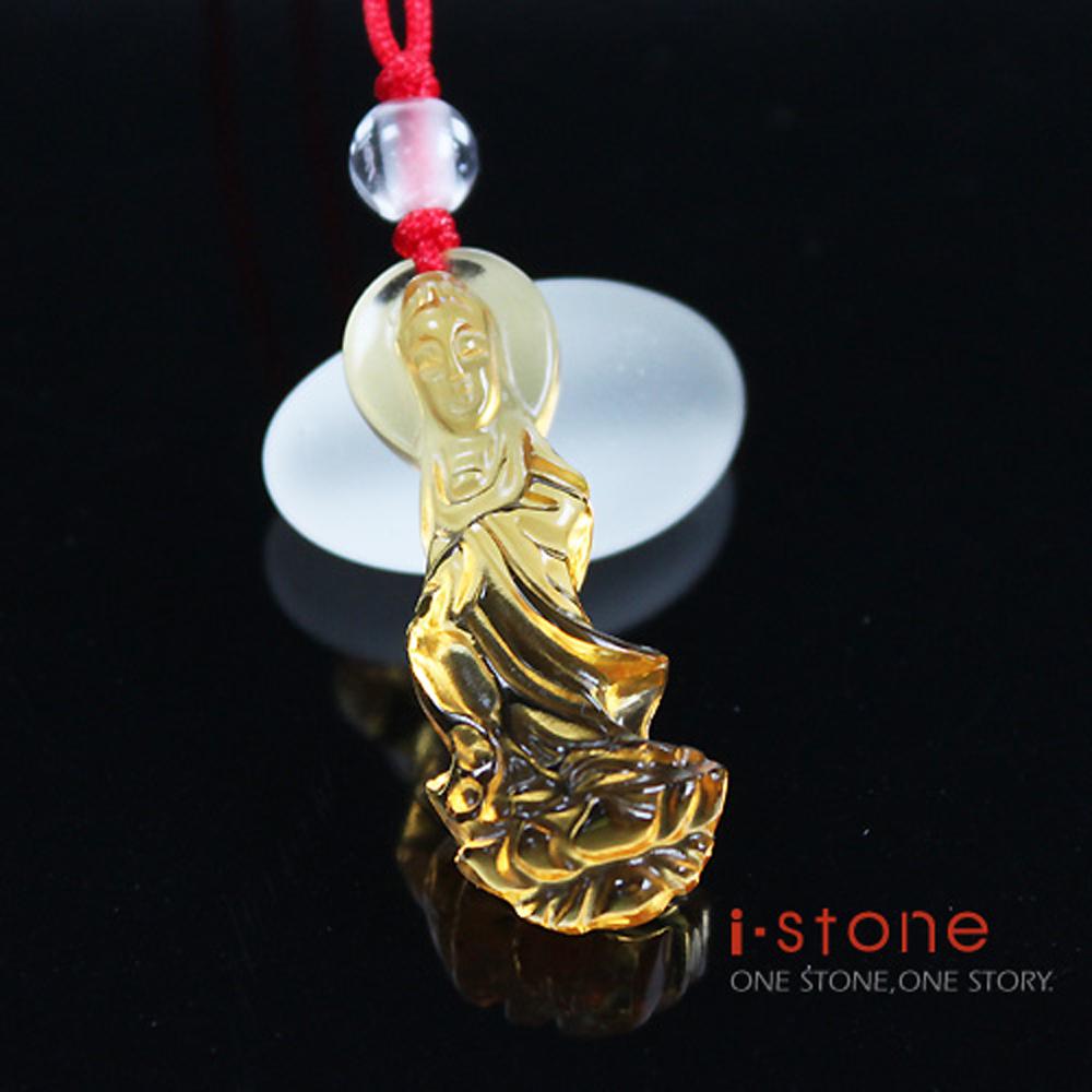 【石頭記】開運100年-護身佛-觀音黃水晶項鍊