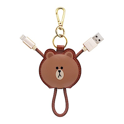 GARMMA LINE Friends Apple Lightning皮革吊飾傳輸線 熊大
