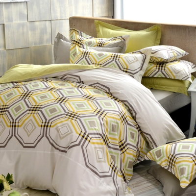 IN HOUSE-Rothenburg street300織紗精梳棉-兩用被床包組(雙人)