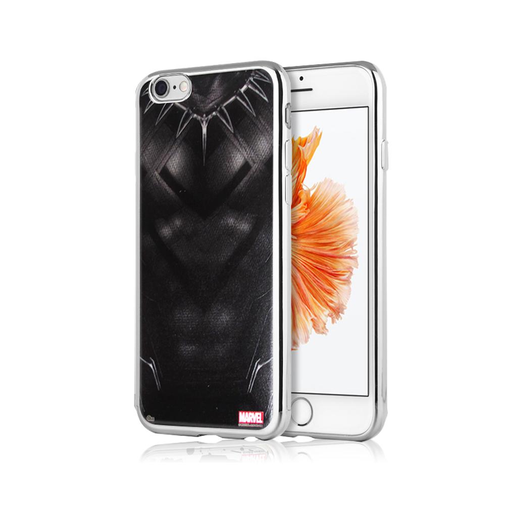 漫威正版 iPhone 6S Plus 5.5吋 美國隊長3 彩繪電鍍手機殼(黑豹裝)